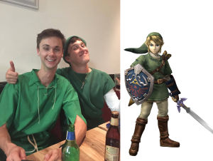 Hugh Brassil and Brodie Elliott as Link
