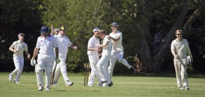James Bourcier takes one of his 4 wickets